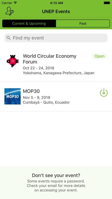 UN Environment Events screenshot two