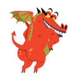 Cute Dragon - DragonMoji Sticker