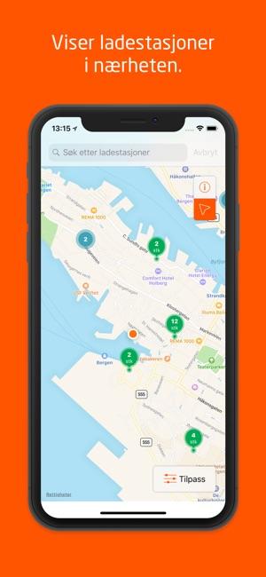kart over ladestasjoner Ladestasjoner on the App Store kart over ladestasjoner