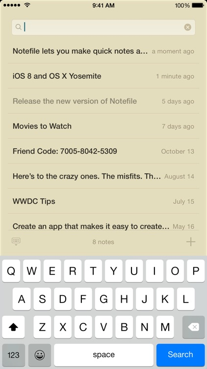 Notefile screenshot-4