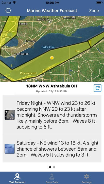Lake Erie Boating Weather