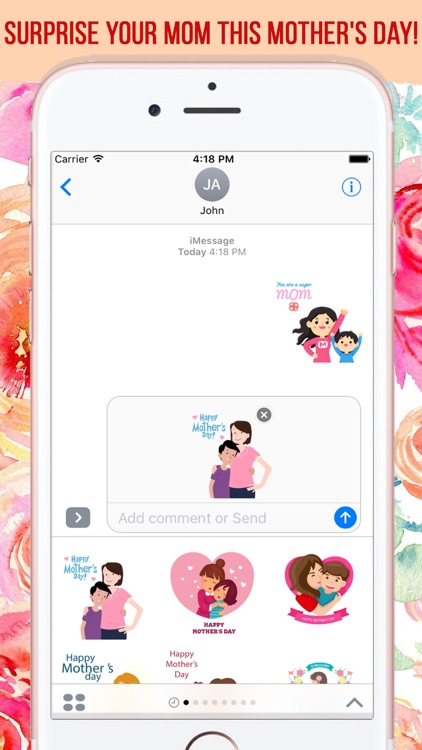 Mother's Day Stickers Pack screenshot-4