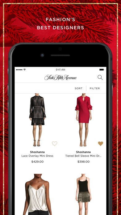 Saks Fifth Avenue review screenshots
