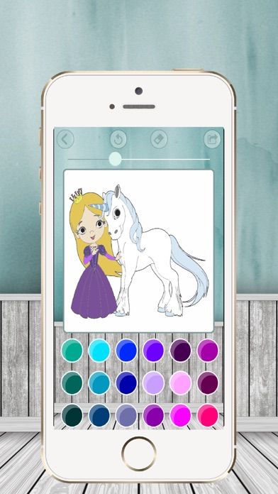 Paint and coloring princesses