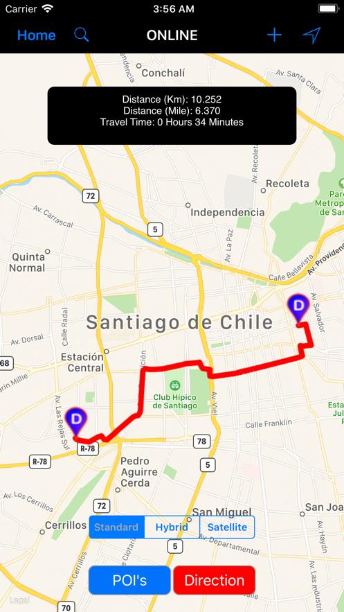 Santiago de Chile - Travel Map App 截图