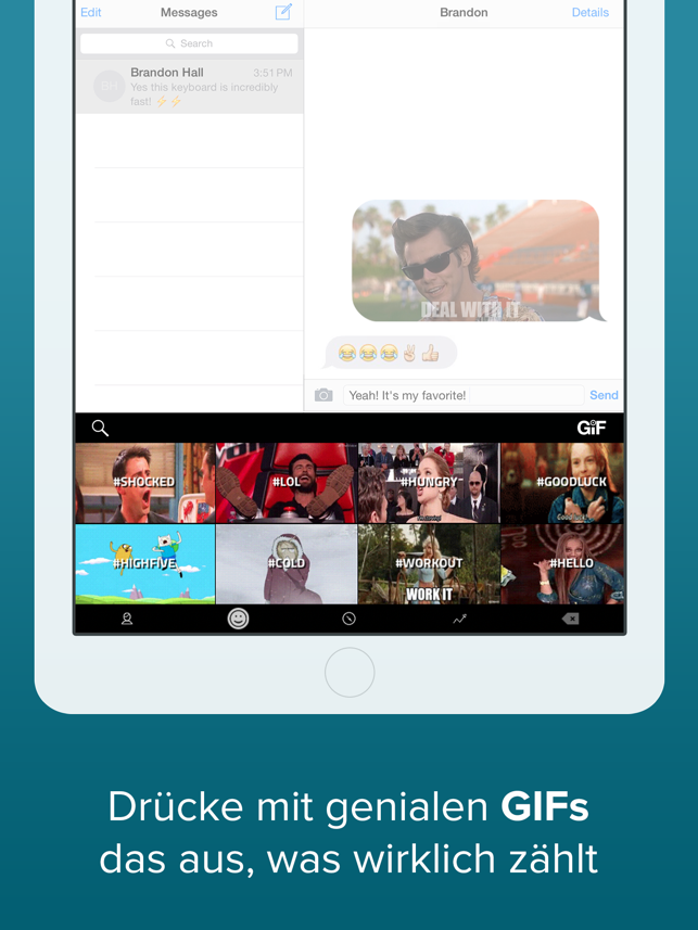 ‎Fleksy- GIF, Web & Yelp Search Screenshot
