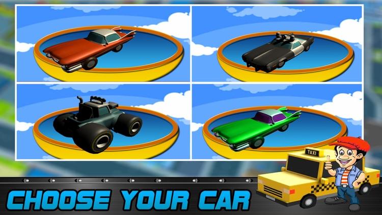 Blocky Pixel Taxi Car Racing 3D