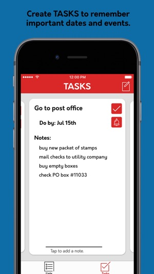 ‎Jot: The Simple List and Task Manager Screenshot