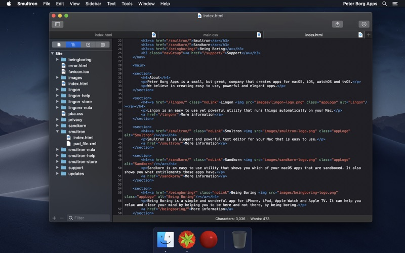 Smultron 11 - Text editor DMG Cracked for Mac Free Download