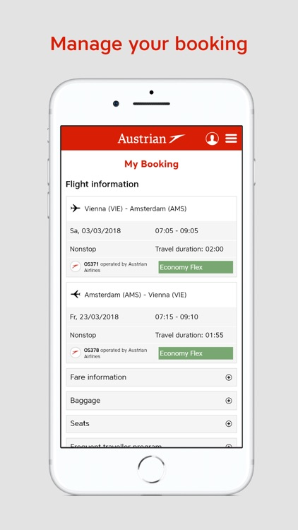 Austrian Airlines screenshot-3