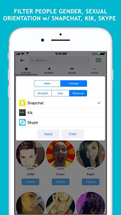 Screenshot of Dizkover: Find People Like You App