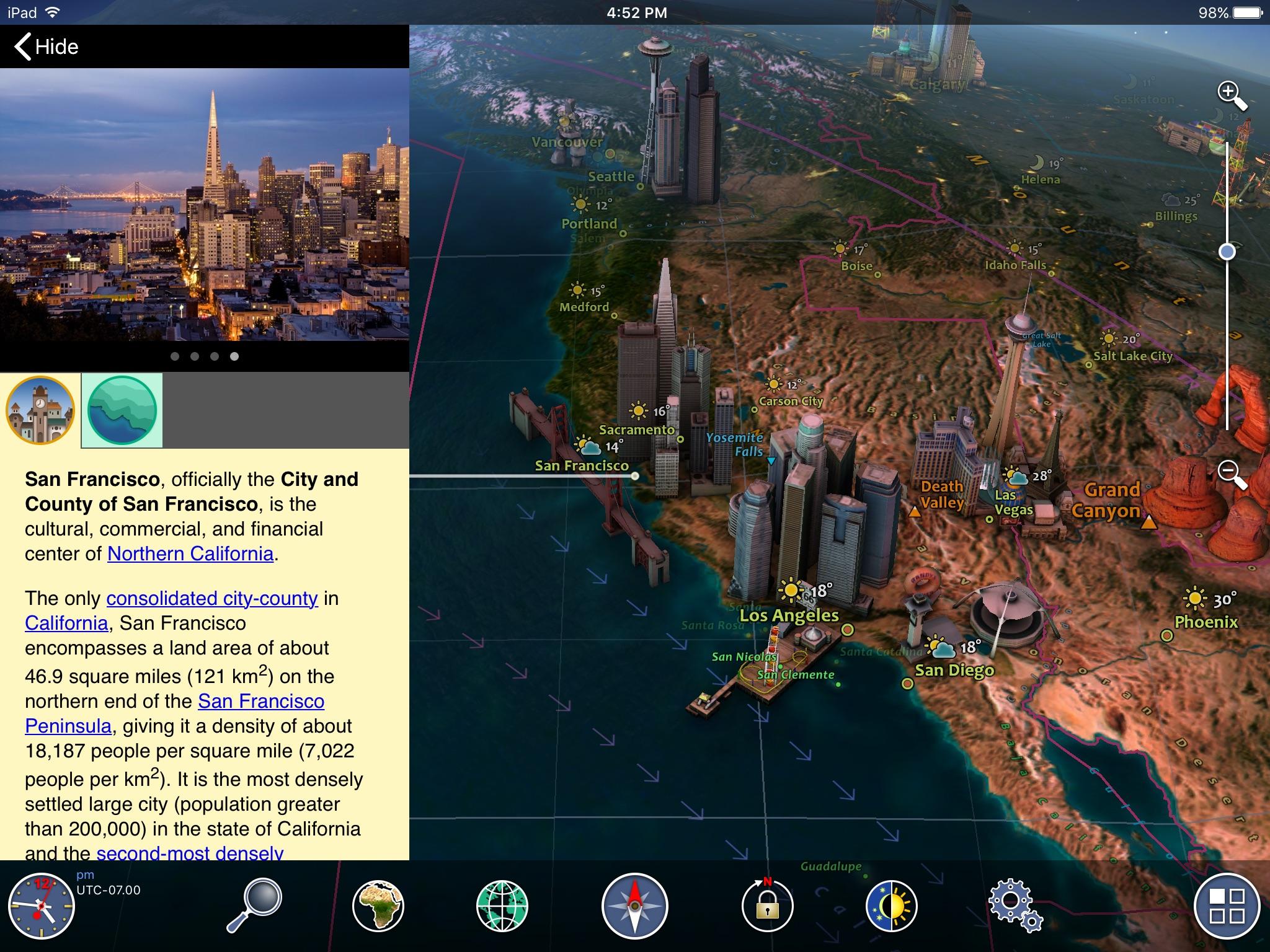 Screenshot do app Earth 3D - Amazing Atlas