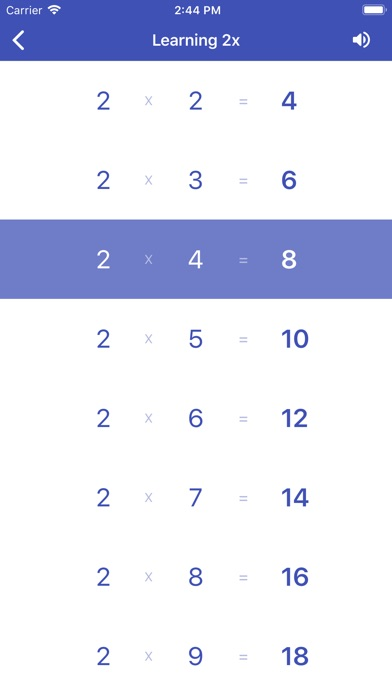 Multiplication Table. Axiom screenshot four