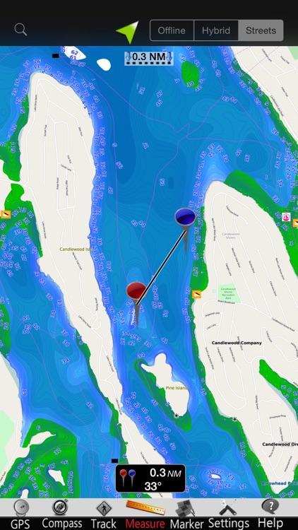 Candlewood Lake GPS Charts screenshot-3