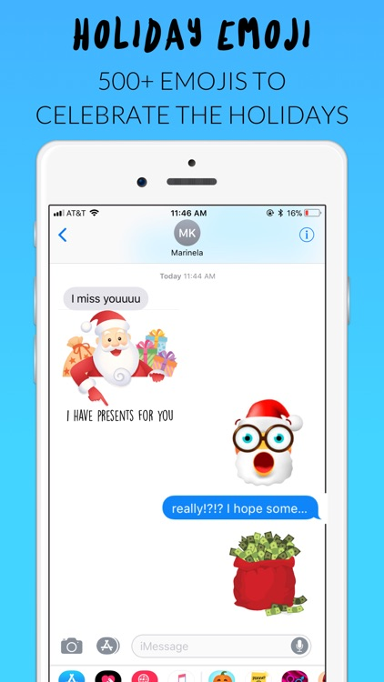 Holiday Emoji Stickers screenshot-0