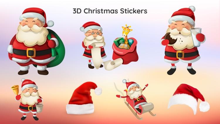 3d merry christmas sticker app