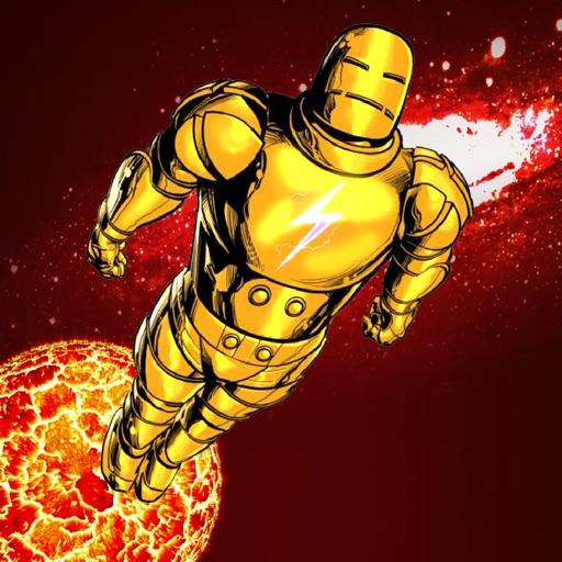 Iron Jump: superhero man