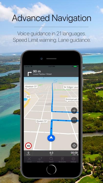 Mauritius Offline Navigation screenshot-3