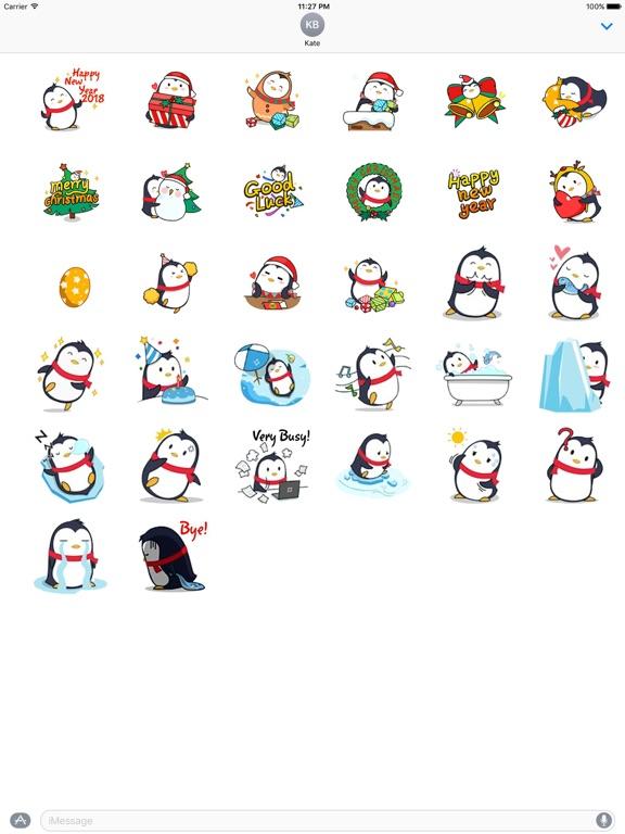 Animated Xmas Penguin Sticker screenshot 4