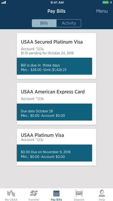 Screenshot for USAA Mobile in United States App Store