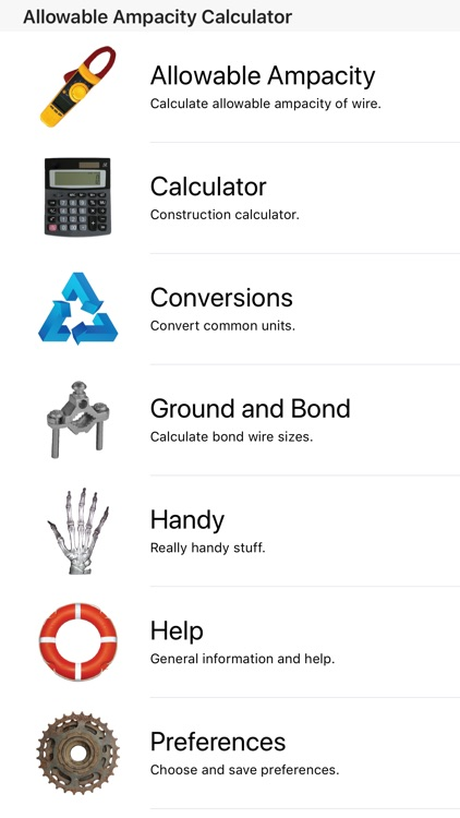 Ampacity calculator pro by snappy appz inc ampacity calculator pro greentooth Choice Image