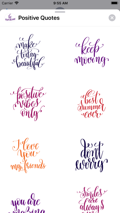 Positive Quotes Stickers screenshot one