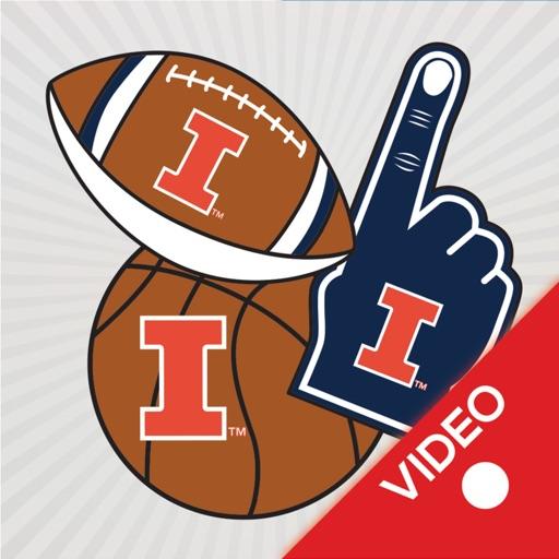 Illinois Fighting Illini Animated Selfie Stickers