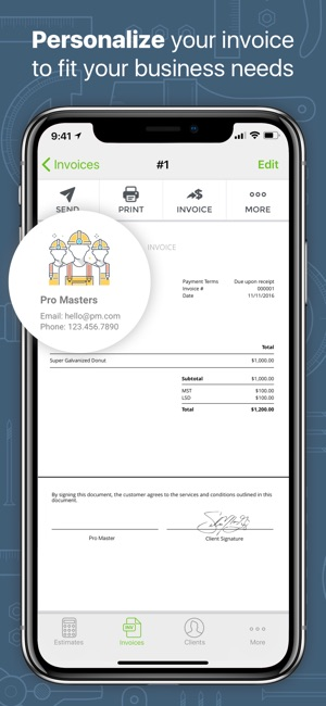 Joist App For Contractor On The App Store - Contractor invoice app