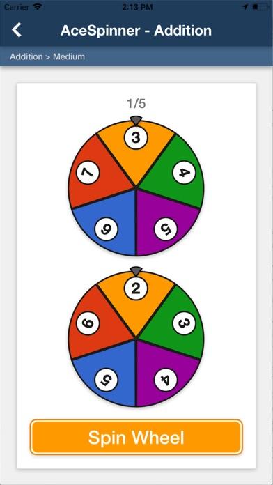 Ace Spinner Math Games Lite screenshot 1