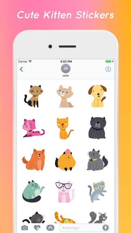Kitty Cat Stickers Pack screenshot-3