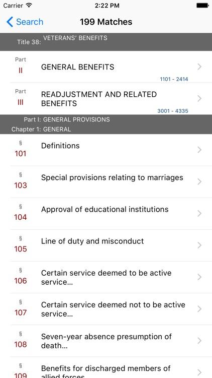 38 USC - Veterans' Benefits (LawStack Series) screenshot-4
