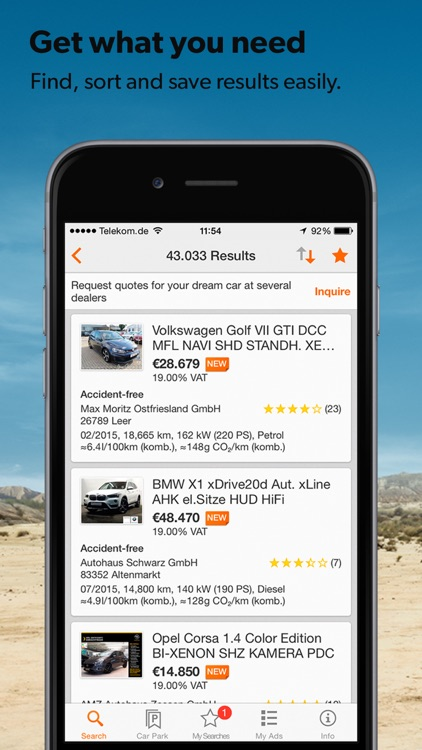 mobile.de – vehicle market