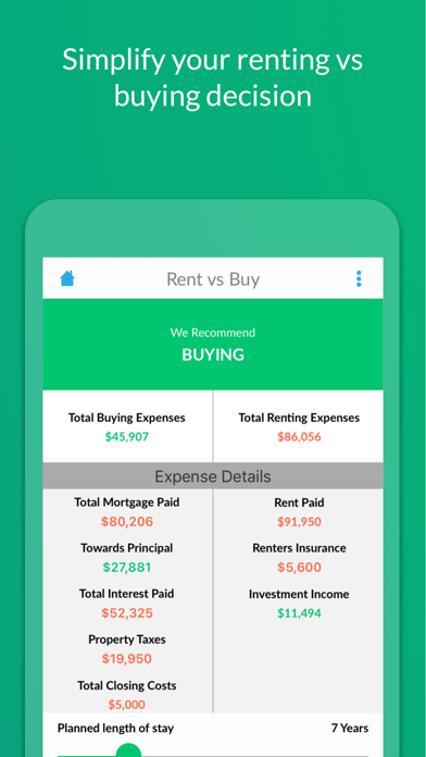 LendingTree Mortgage Calculator screenshot