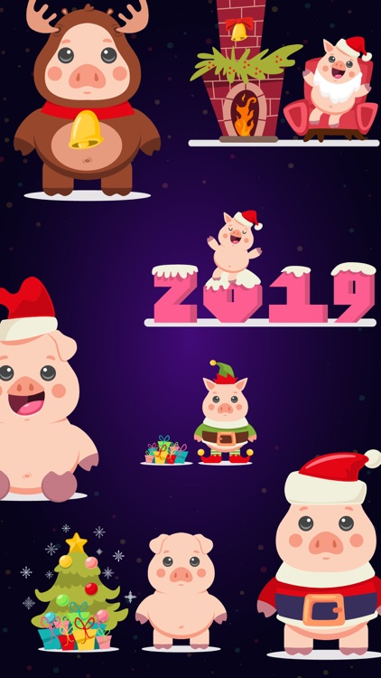 Piggy New Year's Eve Stickers