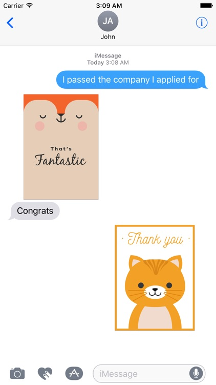 Happy Talk by Cute & Lovely Animal Characters screenshot-3