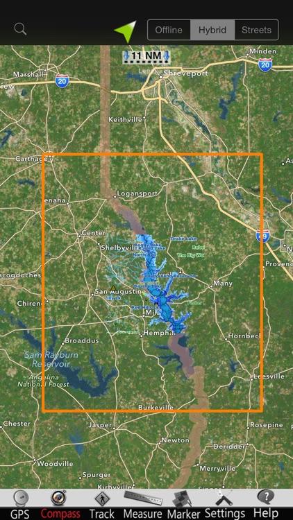 Toledo Bend GPS Nautical Chart screenshot-4
