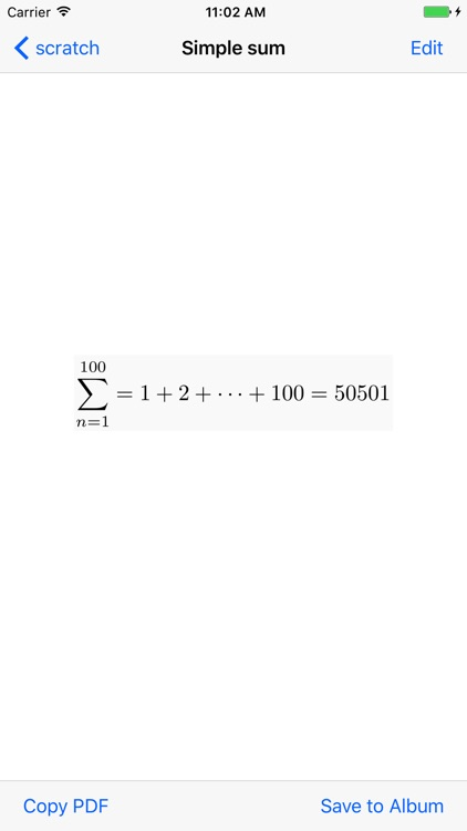 TeX Equation