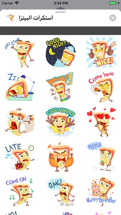 Screenshot for Pizza Stickers-استكرات البيتزا in United States App Store