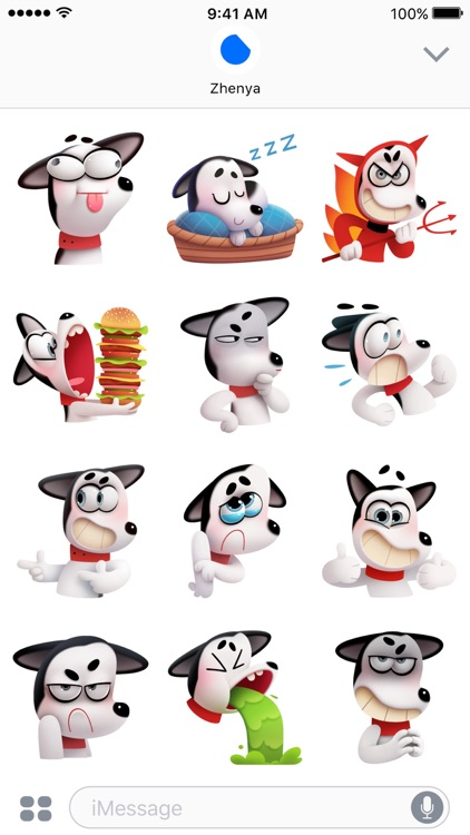 Max the Husky Stickers