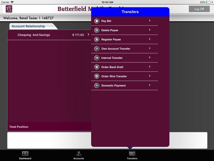 Butterfield iPad App
