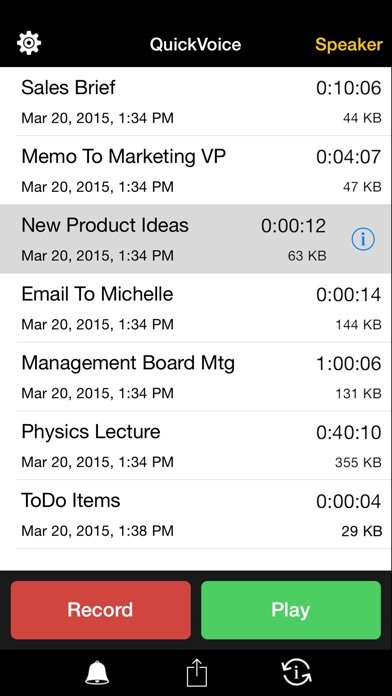 Quickvoice Recorder review screenshots
