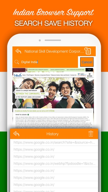 Indian Browser - National Fast Browser & Secure by Shraddha