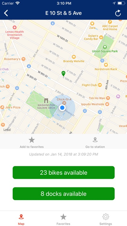 Simple Citi Bike NYC screenshot-4