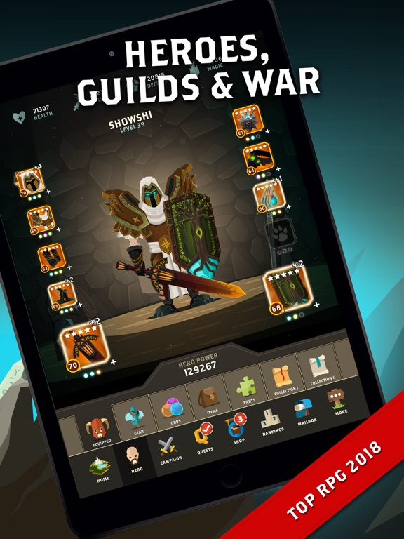 Questland: Turn Based RPG на iPad