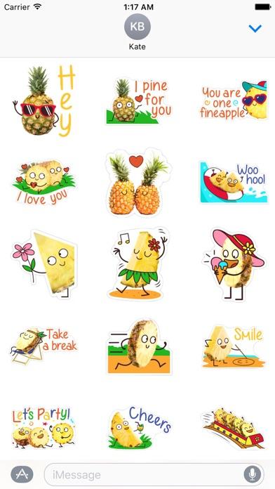Hello Summer Pineapple Sticker screenshot 1