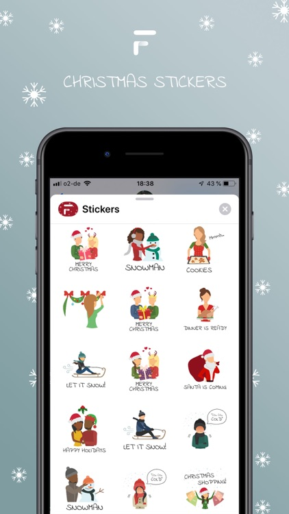 friendships.me Xmas Stickers