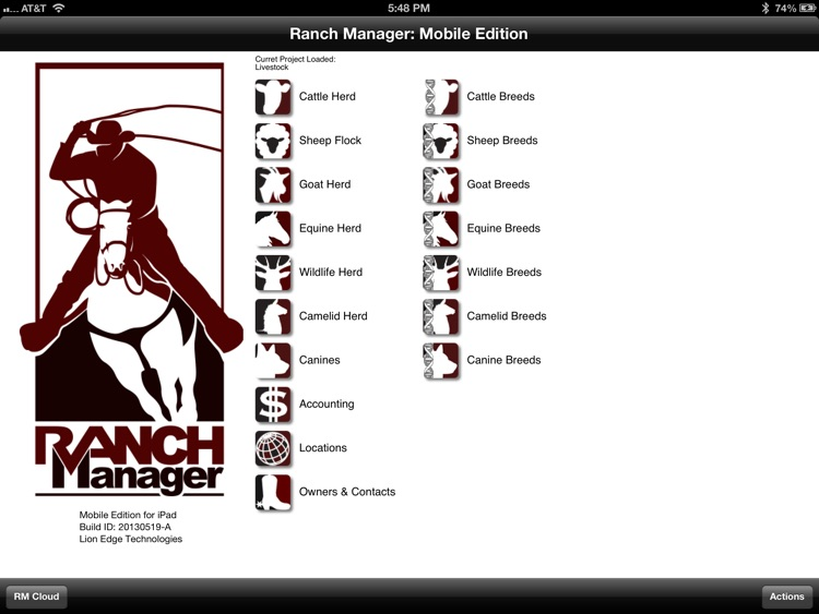 Ranch Manager for iPad