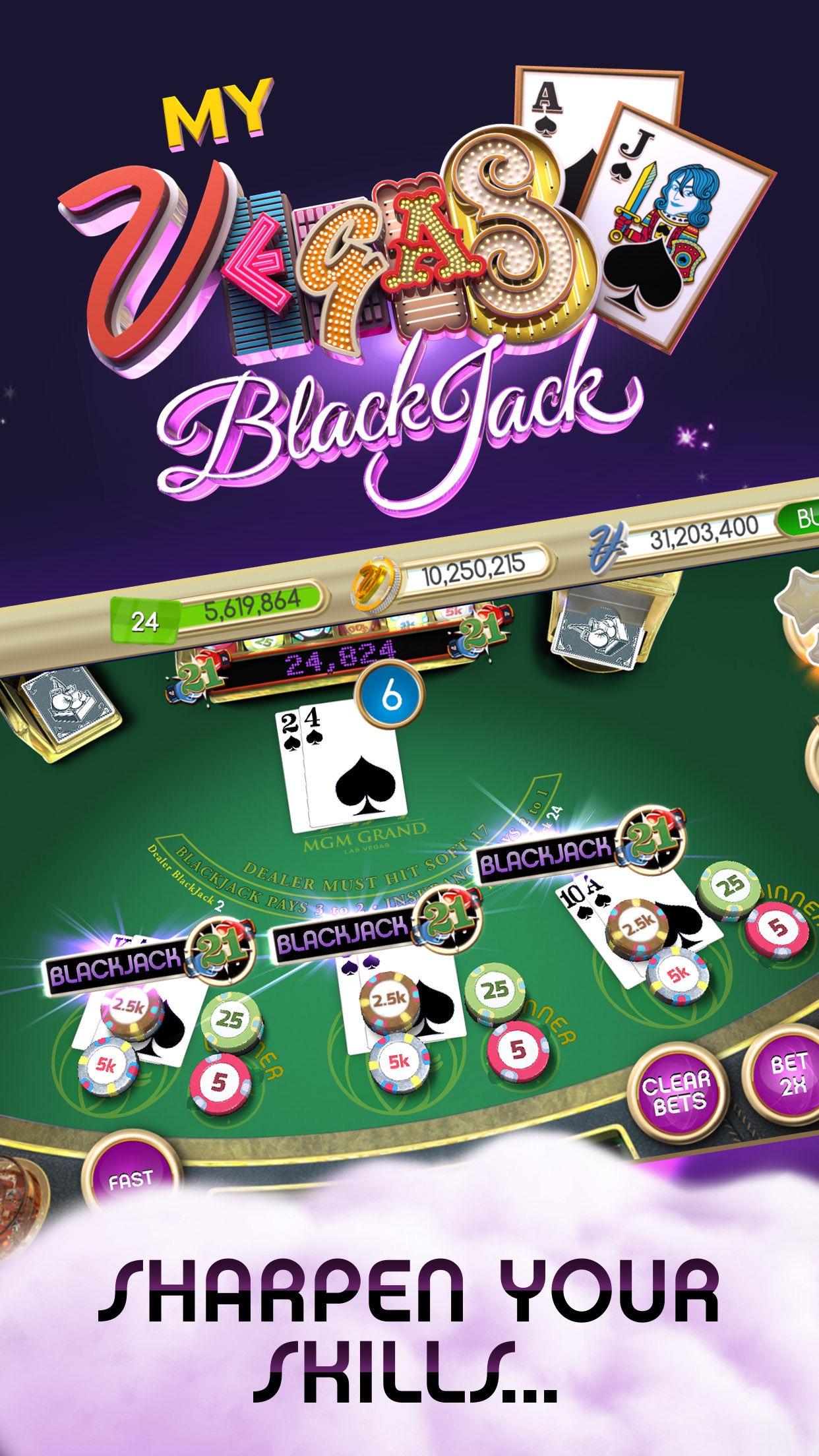 myVEGAS Blackjack – Casino Screenshot