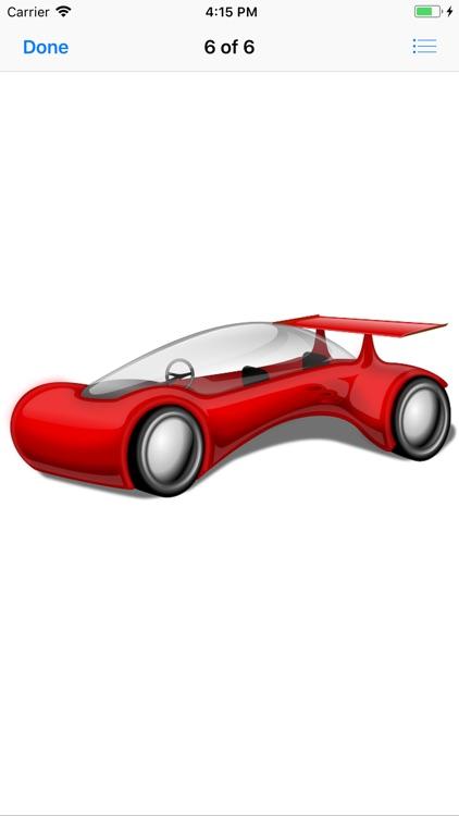 Red Car Stickers screenshot-7