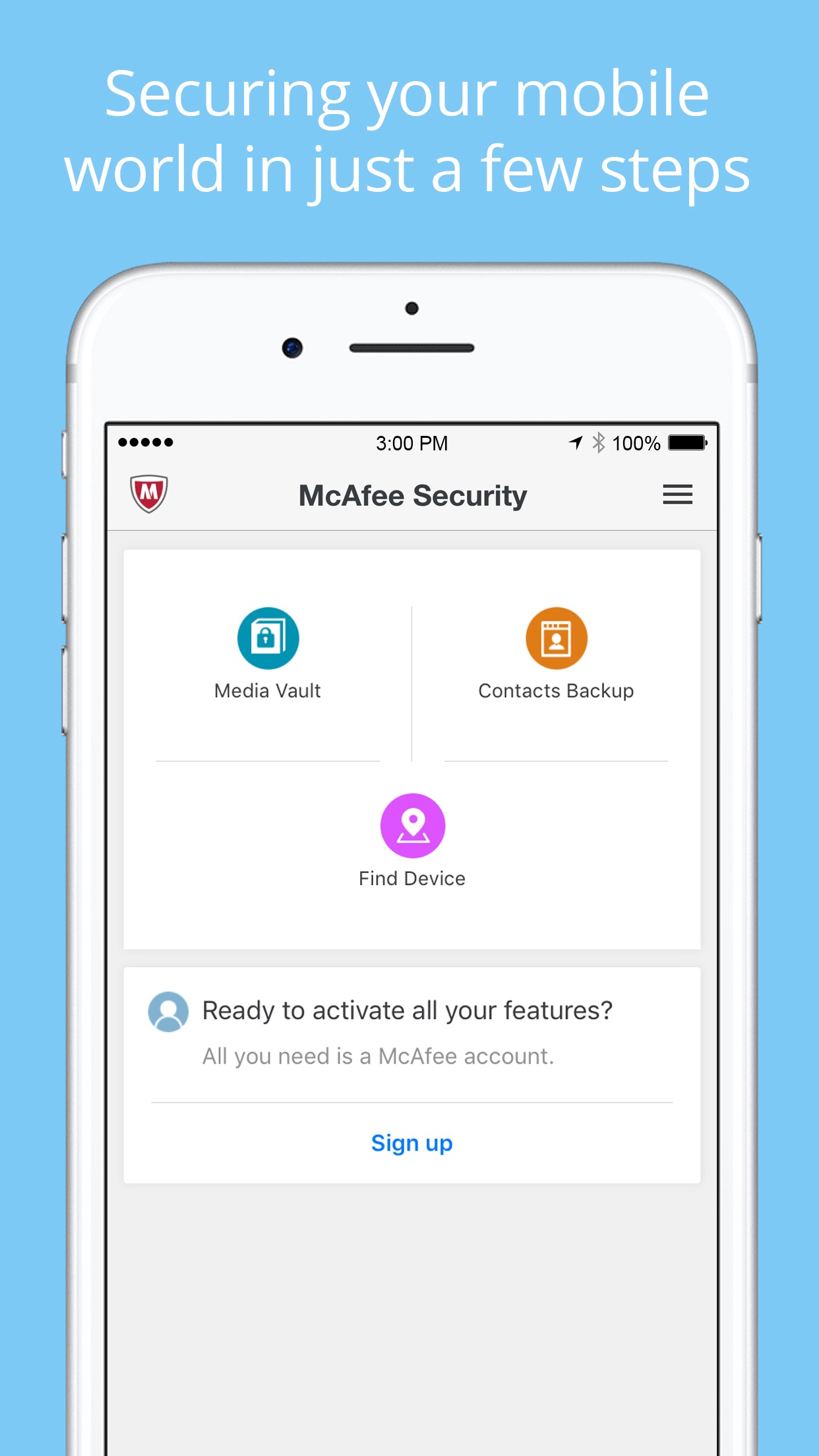 McAfee Mobile Security Screenshot